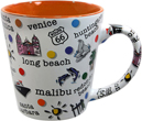 Southern California Coast Coffee Mug, Orange