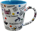 Southern California Coast Coffee Mug, Blue