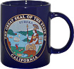 California State Seal and Bear Flag Mug - Navy Blue
