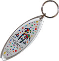 California Surf Board Acrylic Key Chain