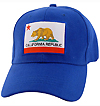 California Republic Bear Flag Baseball Cap, Blue