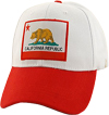 California Republic Bear Flag Baseball Cap, White