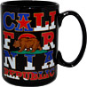 Large California Bear Flag Mug - Black