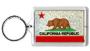 California State Flag Acrylic Key Chain