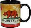 California State Flag Mug - Black
