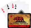 California Bear Flag Playing Cards
