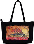 California Souvenir State Flag - Canvas Tote Bag, 14L
