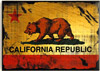 California Fridge Magnet - Distressed Bear Flag