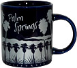 Palm Springs Souvenir Mug - Blue