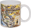 California State Map Ceramic Mug
