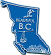Map of British Columbia - Refrigerator Magnet, 2.5L