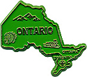 Map of Ontario - Refrigerator Magnet, 2.25L