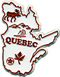 Map of Quebec - Refrigerator Magnet, 2.25L