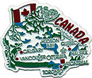 Map of Canada - Refrigerator Magnet, 2.25L