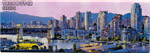 Panoramic View of Vancouver - Canada Souvenir Magnet, 4-5/8L
