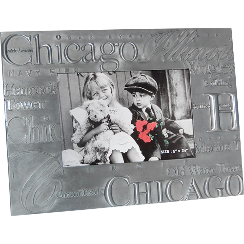 Chicago Picture Frame in Pewter