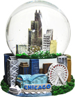 Chicago Souvenir Musical Snow Globe, 5.5 H