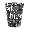Chicago Letter Shot Glass, Black
