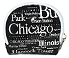 Chicago Souvenir Letter Coin Bag - Black
