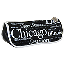 Chicago Souvenir Letter Cosmetic Bag - Black