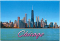 Chicago City Skyline Souvenir Metal Magnet