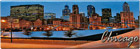 Chicago City View Souvenir Metal Magnet - Panorama