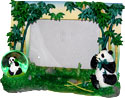 Panda Bear with Bamboo Picture Frame - 8W x 6H