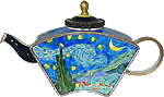 Star Light Van Gogh Miniature Teapot