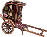 Chinese Rickshaw - Enamel Jeweled Trinket Box, 4 L