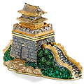 Great Wall of China - Enamel Jeweled Trinket Box, 3.5L