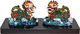 Chinese Dragon Figurine, 2 H