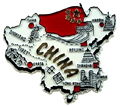 Map of China - Refrigerator Magnet