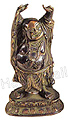 Happy Buddha, 6.5 H, Antique Bronze
