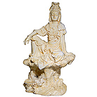 Water and Moon Kuan Yin Statue, 7 H