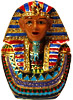 King Tut Bust - Small Jeweled Trinket Box, 2.25H