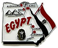 Map of Egypt - Fridge Magnet, 2 L