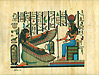 Maat and Hator 9 x12  Papyrus Painting