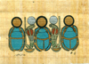 Scarab, 4.25x6.25 Papyrus Painting
