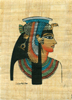 Cleopatra Papyrus Painting, 6.25 x4.25