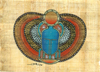 Sacred Scarab, 4.25x6.25 Papyrus Painting