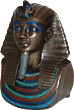 Mask of King Tut Statue, 6.5H