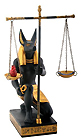 Anubis Scales of Justice Figurine, 7.5 H