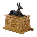 Anubis Dog Box, Black/Gold 6H