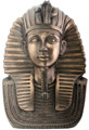 Mask of King Tut Figurine, 7 H - Bronze