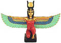 Winged Isis Figurine, 8 W