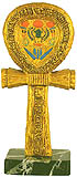 Ankh Gold and Color Statue on Marble Case, 9
