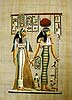 Isis and Horus, 12 x16 , Papyrus Painting
