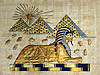 Sphinx & the Pyramids 12 x16  Papyrus Painting