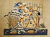 Nebamun Hunting in River Nile - Ancient Egyptian Papyrus Painting, 16 x24