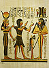 Setti I the Priest and Hathor 12 x16 , Papyrus Painting